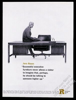 1964 Jens Risom photo and executive desk vintage print ad