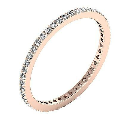 I1 G 0.60Ct Natural Diamond Stackable Eternity Wedding Ring Band 14Kt Solid Gold
