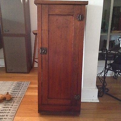Vintage Architectural Salvage 1920-30s Oak Built In Cabinet with Shelves inside
