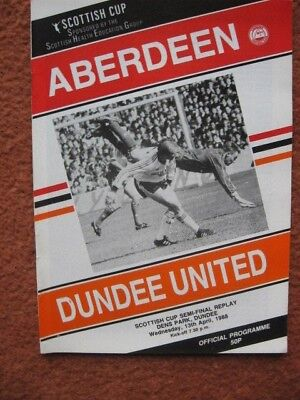1988 SCOTTISH CUP SEMI FINAL REPLAY: ABERDEEN v DUNDEE UNITED @DUNDEE