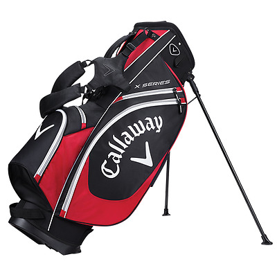 Brand New 2017 Callaway Golf X Series Stand / Carry Bag - Black / Red / White