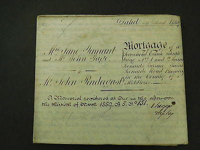 3 Page Antique Vellum Indenture 1859 St Leonards Terrace Bromley by Bow
