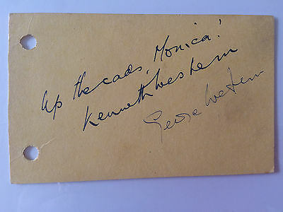 Original Hand Signed Autographs - The Western Brothers - Up the Cads!