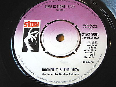"""BOOKER T and THE MG's - TIME IS TIGHT / SOUL LIMBO  7"""" VINYL"""