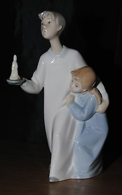 Lladro Boy And Girl With Candle Figurine