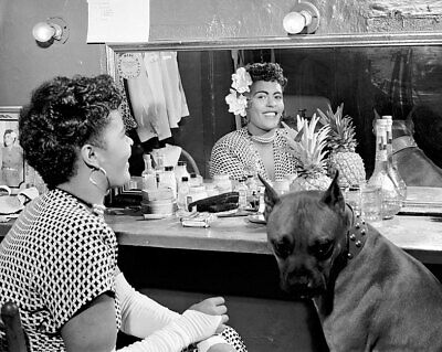 Portrait of Billie Holiday and Dog Mister 11x14 Silver Halide Photo Print