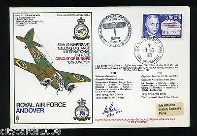 1971 Air Race RAF Cover Signed  C C M Baker 23 Sqn Battle of Britain