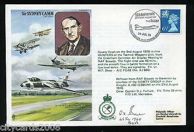 1976 S Camm RAF Cover Signed R H Barber 46 Sqn Battle of Britain