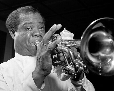 Portrait Of Louis Armstrong At Carnegie Hall 11x14 Silver Halide Photo Print