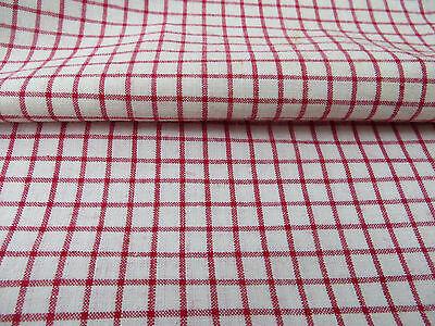 "Unused  German 1900   Checkered  Duvet Cover  Linen Plaid Fabric 65 ""by 75"""