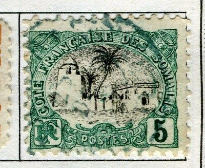 FRENCH SOMALIA;  1903 early pictorial issue fine used 5c. value