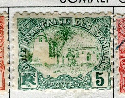 FRENCH SOMALIA;  1902 early pictorial issue mint hinged 5c. value