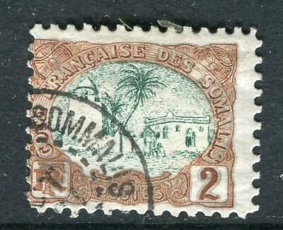 FRENCH SOMALIA;  1902 early pictorial issue fine used 2c. value