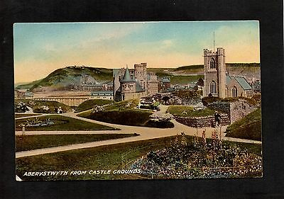 Aberystwyth From Castle Grounds. Unposted Vintage Postcard By Etw Dennis