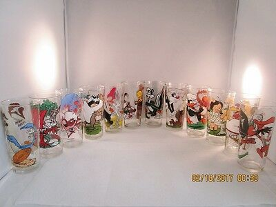12 - 1976 Looney Tunes Animated Collector Series Pepsi Glasses