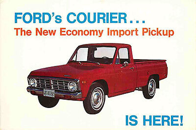 Advertising Postcard 1972 Ford Courier - New Economy Import Pickup