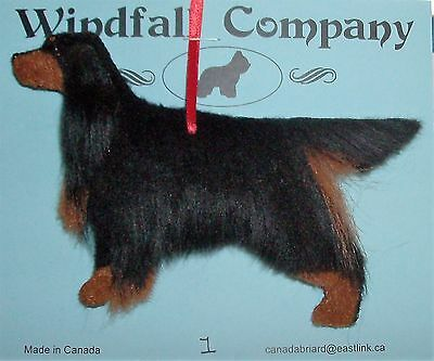 Gordon Setter  Dog Plush Christmas Canine Ornament by WC # 1