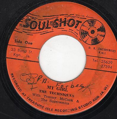 """ MY GIRL. "" the techniques. SOUL SHOT 7in 1968."