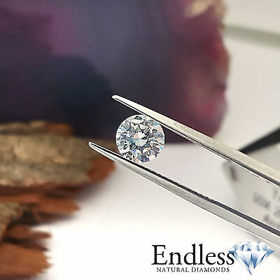 Natural Loose Diamond 0.18 CT H VS2 Round Cut for Ring DGI Certified Enhanced