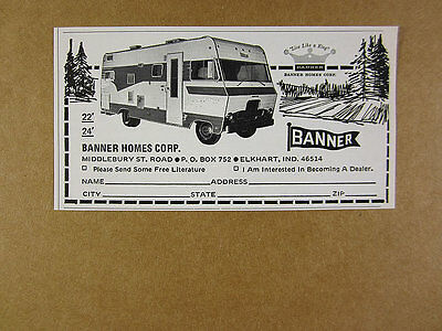 1969 Banner Homes RV Motor Home photo vintage print Ad