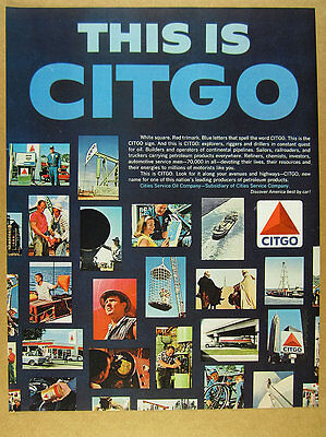 1966 This is CITGO gas pump sign service station tanker photos vintage print Ad