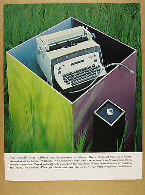 1960 Royal Electric Typewriter color photo vintage print Ad
