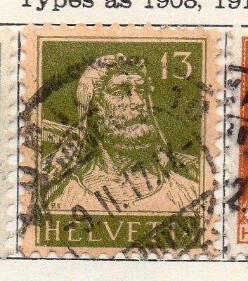 Switzerland 1916 Early Issue Fine Used 13c. 133351