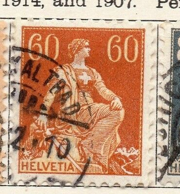 Switzerland 1916 Early Issue Fine Used 60c. 133352