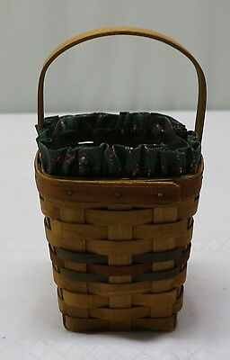 Longaberger 1992 Shades Of Autumn Bittersweet Basket With Liner & Protector