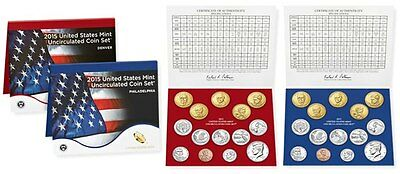 2015 United States Mint Uncirculated Coin Set - Philadelphia & Denver - Official