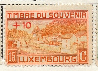 Luxembourg 1921 Early Issue Fine Mint Hinged 15c. +10 Surcharged 133890