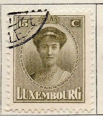 Luxembourg 1921 Early Issue Fine Used 15c. 133897