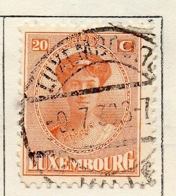 Luxembourg 1921 Early Issue Fine Used 20c. 133898
