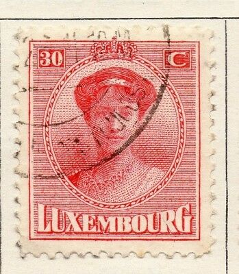 Luxembourg 1921 Early Issue Fine Used 30c. 133900
