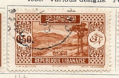 Great Lebanon 1930 Early Issue Fine Used 50p. 133991