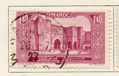 French Morocco 1927 Early Issue Fine Used 1.40F. 133607