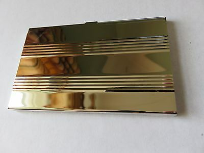 Silver coloured metal CARD CASE business cards