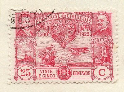 Portugal 1923 Early Issue Fine Used 25c. Air Set 133658