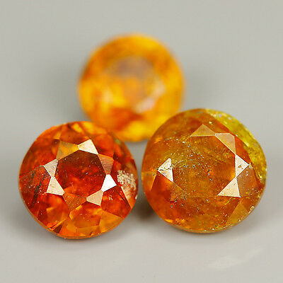 Comely 1.39 Cts Natural SPHALERITE Round (3Pcs)Gemstone @ See Video !!