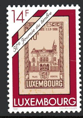 Luxembourg Y&T 1230 - STAMP DAY  - 1991  **MNH