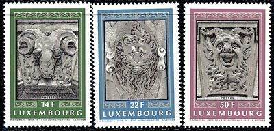 Luxembourg Y&T 1249/51- ARCHITECTURE  - 1992  **MNH