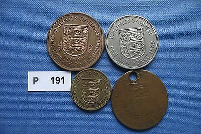 Bailiwick Of Jersey. 4 Coins (1954-1968)#p191
