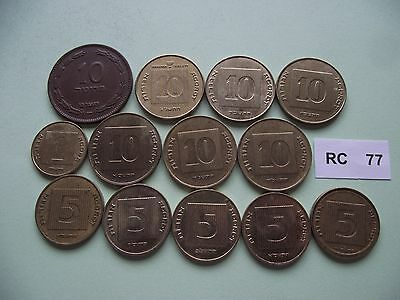Israel. 13 Coins #rc77