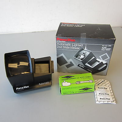 ViewMaster Pana-Vue Automatic Lighted 2x2 Slide Viewer #6566 MIB Batteries/AC OB