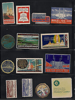 Poster Stamp Collection World's Fair issues NY San Francisco 1939 1940