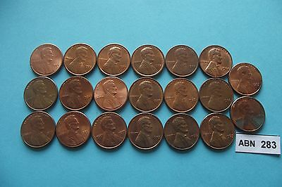 Usa. 18 Lincoln's Cents. Nice Condition (1963-1985)#abn283