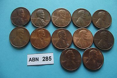 "Usa. 12 Lincoln's Cents.all""d"". Nice Condition (1964-1987)#abn285"