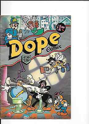 Dope Comix #1 (1978), Kitchen Sink, Various Artists. Second Printing. VG -Fine.