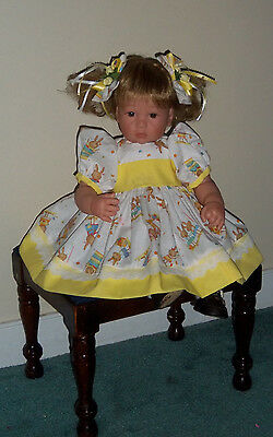 """Pretty Easter Special Dress Set For Lee Middleton Toddler Doll 20-22 """"By Berta"""""""