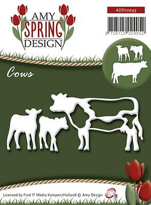 Stanzschablone FIND IT Amy Spring Design Tiere Animals Kuh Kühe COWS ADD 10043